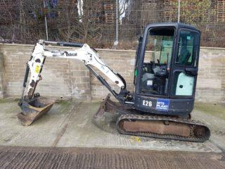 used bobcat e26 mini excavator for sale