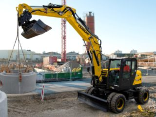 Yanmar B110 wheeled digger for sale