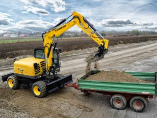 Yanmar B110 wheeled excavator for sale
