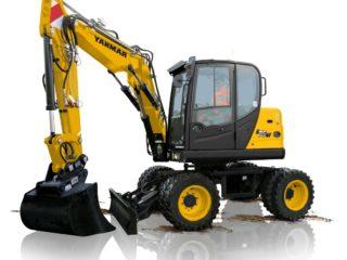 Yanmar B75 7.6 Tonne Wheeled Excavator & Digger For Sale
