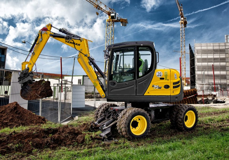Wheeled Excavator available for hire