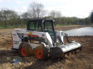 Bobcat Loader with Rotavator hire