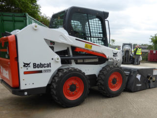 Bobcat S550 and Sweeper Collector hire