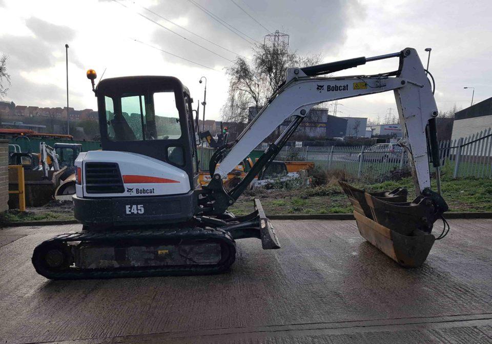 Used Bobcat E45 Mini Excavator for Sale   MTS Plant Sales