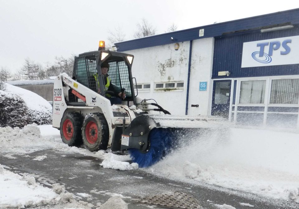 Skidsteer Snow Broom Hire