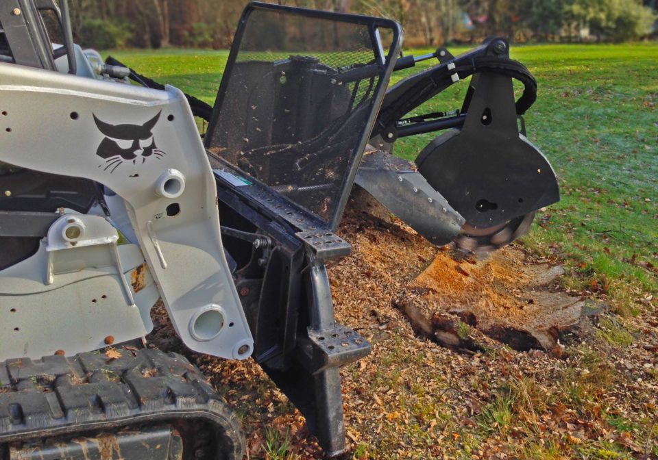 Stump Grinder For Bobcat Hire